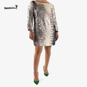 Joan Vass Sequin Tunic Dress